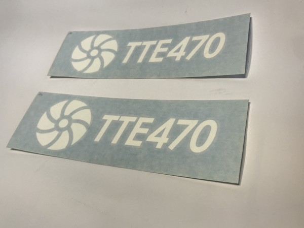 TTE470 Decal Sticker White Large
