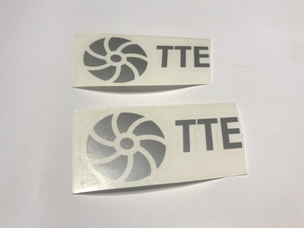 TTE Decal Sticker Silver Medium