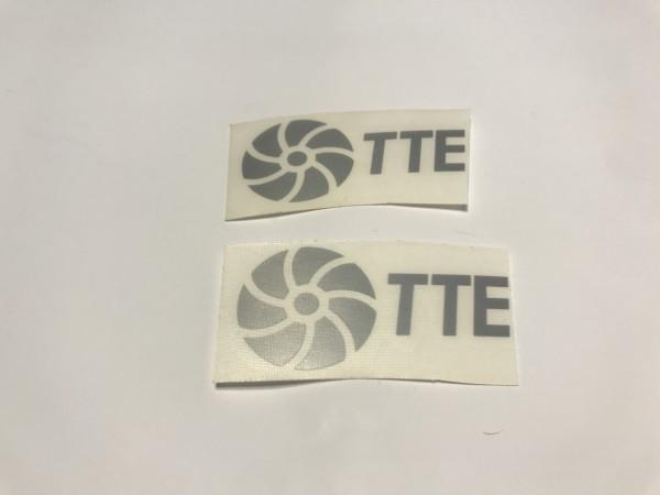 TTE Decal Sticker Silver Small