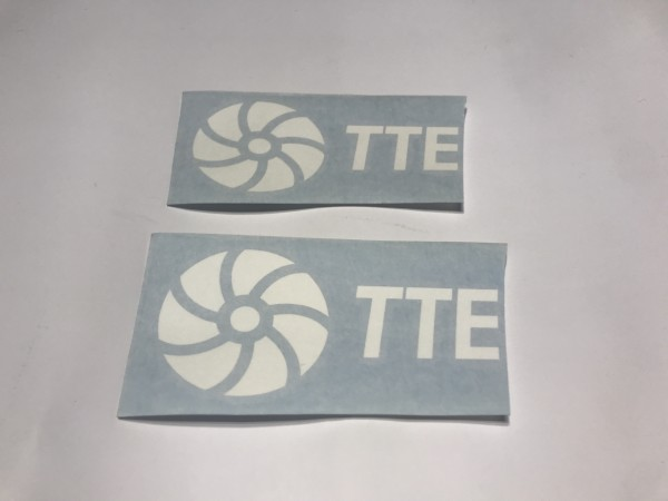 TTE Decal Sticker White Large