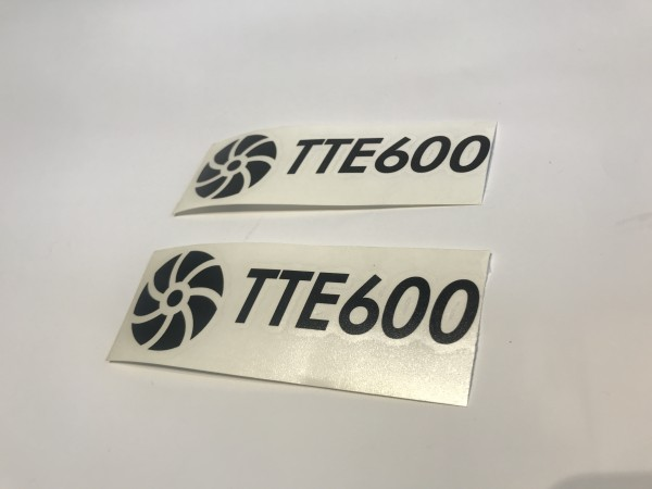TTE600 Decal Sticker Black Small