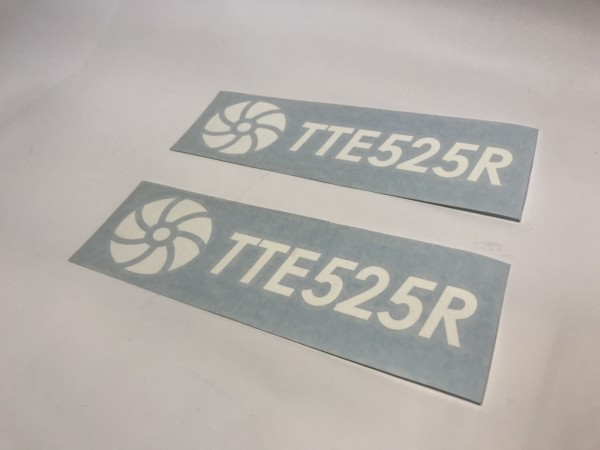 TTE525R Decal Sticker White Large