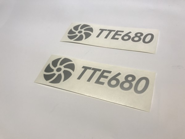 TTE680 Decal Sticker Silver Medium