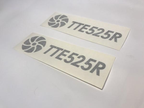TTE525R Decal Sticker Black Large